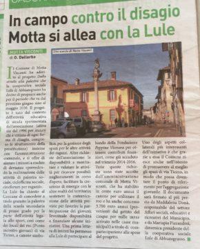 articolo relativo ad attività Lule Onlus a Motta Visconti - Settegiorni