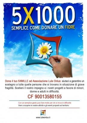 campagna 5X1000 Lule Onlus Milano - sostegno impegno contro tratta e sfruttamento donne e minori
