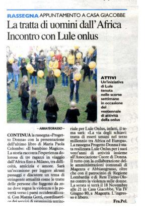 articolo relativo ad attività Lule Onlus Milano tratta e sfruttamento