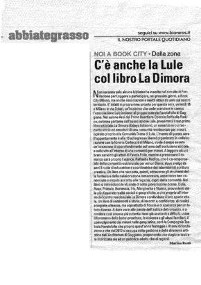 articolo relativo ad attività Lule Onlus Milano La Dimora