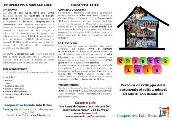 Brochure Casetta esterno