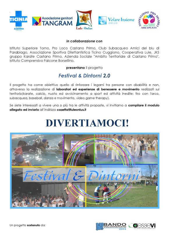 Locandina Divertiamoci - Festival e Dintorni