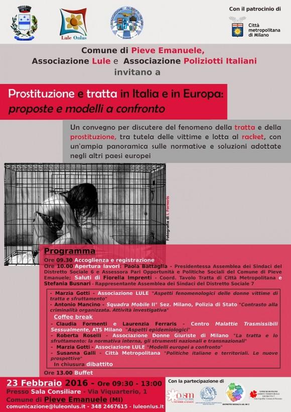 Manifesto convegno Prostituzione e tratta - 23 feb