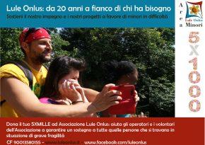 campagna 5X1000 Lule Onlus Milano - sostegno impegno a favore di minori in situazione di difficoltà