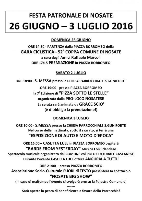 FESTA DI NOSATE 2016