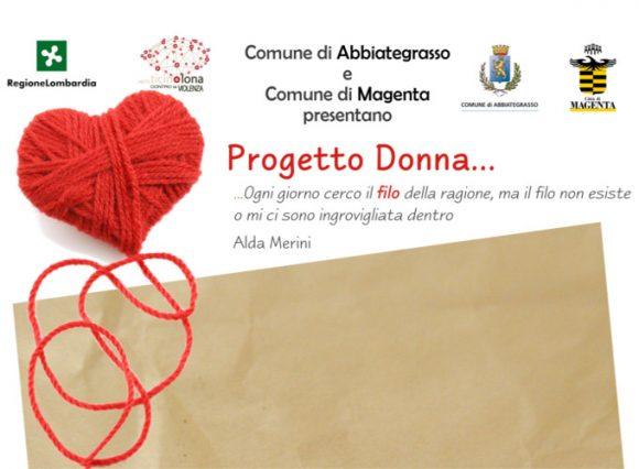 Progetto Donna manifesto rassegna contro violenza sulle donne a Magenta e Abbiategrasso