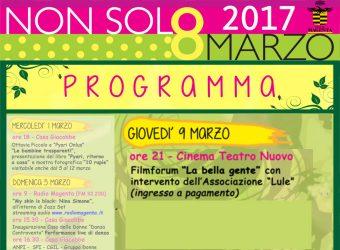 programma non solo 8 marzo lule attivitit' di sensibilizzazione magenta