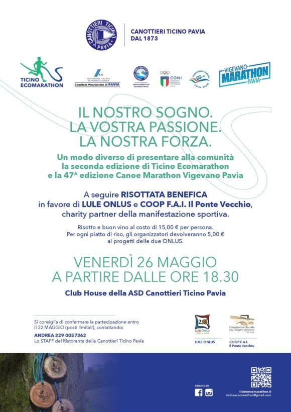 Cena e risottata benefica di presentazione Ticino Ecomarathon Lule onlus Milano