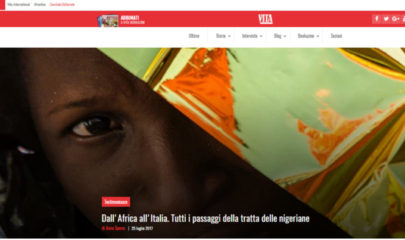 articolo intervista a responsabile Lule Onlus Milano pubblicato su Vita sul tema tratta e sfruttamento nigeriane