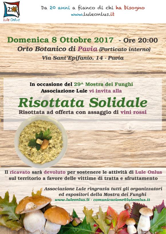 Risottata Solidale a favore delle attività di Lule onlus nell'ambito del sostegno alle vittime di tratta e sfruttamento - Pavia