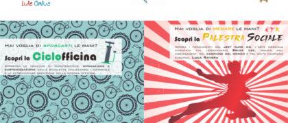 Locandina Palestra Sociale e Ciclofficina- Motta Visconti proposte per adolescenti di Lule Onlus