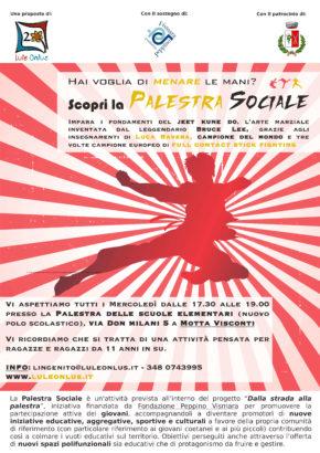 Locandina Palestra Sociale - Motta Visconti proposte per adolescenti di Lule Onlus