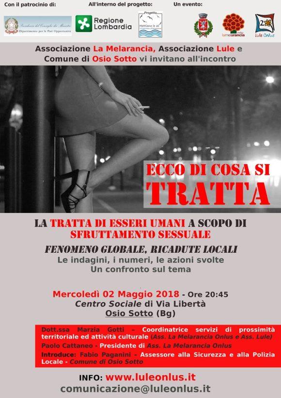 incontro tema tratta e sfruttamento Comune Osio Sotto - Lule Onlus Milano