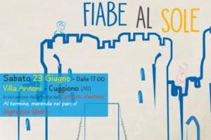 banner evento fiabe al sole di Cuggiono promosso da Lule Onlus