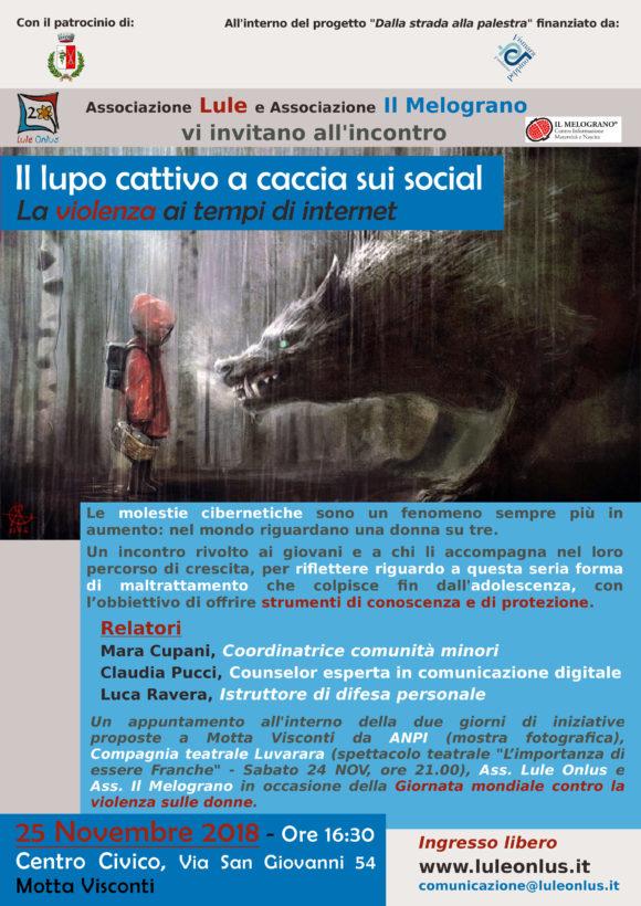 In occasione della Giornata mondiale contro la violenza sulle donne incontro promosso a Motta da Lule per parlare di violenza di genere ai tempi di internet