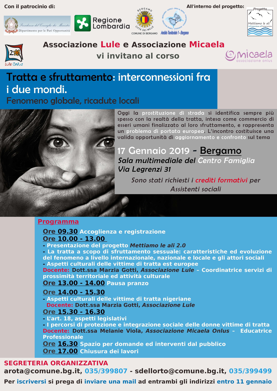 Incontro di formazione tratta e sfruttamento a Bergamo - Lule Onlus