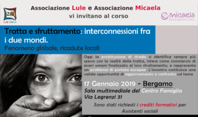 formazione tratta e sfruttamento a Bergamo - Lule Onlus
