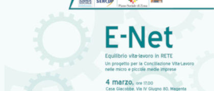 Convegno nel progetto E-net Equilibrio Vita Lavoro in rete. Lule onlus presenta il proprio percorso e strumenti nell'ambito della conciliazione vita-lavoro