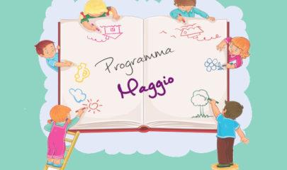 programma di maggio dello spazio giochi di Vittuone gestito da Coop Lule - Pifferaio Magico