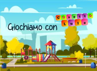 banner programma attività di Associazione Lule presso Cappelletta di Abbiategrasso per presentare ente e far conoscere Casetta Lule con giochi e animazioni per i più piccoli