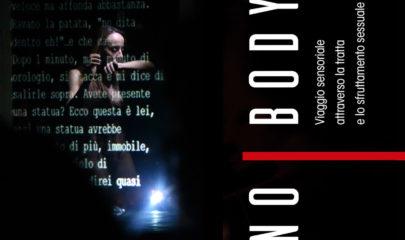 banner rappresentazione NoBody installazione teatrale tratta e sfruttamento Associazione Lule Abbiategrasso attività sensibilizzazione